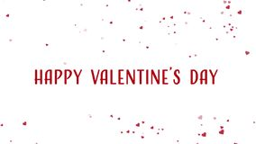 Animation heureuse de Saint-Valentin avec flotter les coeurs rouges