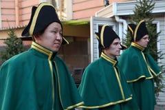 Animation historique d'acteurs du château mikhailovsky (d'ingénierie) Photo stock