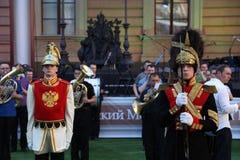 Animation historique d'acteurs du château mikhailovsky (d'ingénierie) Images stock