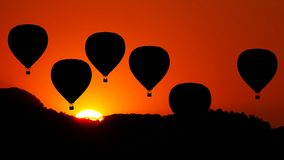Animation of Hot Air Balloon stock video