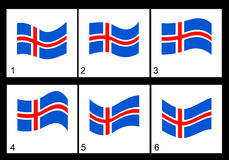 Animation Icelandic flag Royalty Free Stock Photos