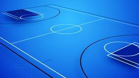 Animation of an interactive basket field. In blue colours