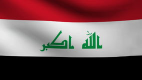 Animation of Irak flag at wind stock video