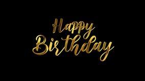 Happy Birthday Text in Golden