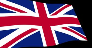 United Kingdom flag slow waving in perspective, animation 4K footage. Animation 4K footage of United Kingdom of Great Britain UK, British flag slow waving on stock video