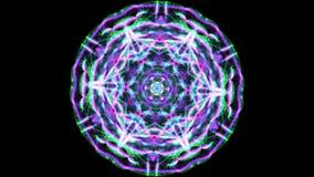 Animation of a kaleidoscopic Mandala stock video footage
