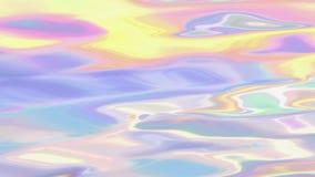 Animation liquide olographe sans couture de fond banque de vidéos