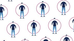 People Using Social Distancing Techniques - Animated Illustration