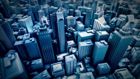 Animation métropolitaine de boucle de ville illustration stock
