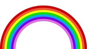 Animation machte mit einem Regenbogen