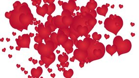 Animation made with red hearts.  stock footage