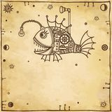 Animation mechanical fish. Vector illustration: animation mechanical fish Royalty Free Stock Photography