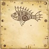 Animation mechanical fish Royalty Free Stock Images