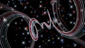 Animation merveilleuse de Noël avec l'objet et les flocons de neige de particules plus des étoiles, 4096x2304 boucle 4K banque de vidéos