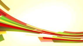 Animation mit den bunten roten und gelben Linien, die von rechts nach links in Kreis, Schleife gehen stock footage