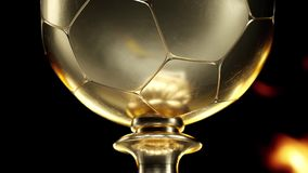 Animation of the movement of the gold Cup football HD