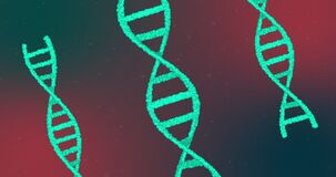 Animation of DNA structures against multi color background