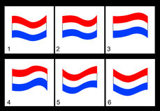 Animation Netherlands flag Royalty Free Stock Image