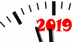 Animation of New Year count down clock. 60 FPS, 4K. Animation of New Year count down clock. 4K UltraHD footage royalty free illustration
