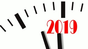 Animation of New Year count down clock. 60 FPS, 4K. Animation of New Year count down clock. 4K UltraHD footage stock illustration