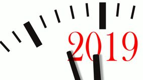 Animation of New Year count down clock. 60 FPS, 4K. Animation of New Year count down clock. 4K UltraHD footage vector illustration