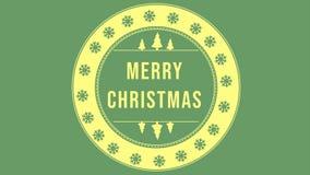 Animation Noël de carte de voeux de Joyeux banque de vidéos