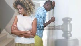 Animation numérique conceptuelle des couples s'ignorant clips vidéos