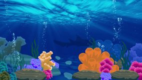 Animation of ocean underwater beuty landscape. Vidio background stock video footage