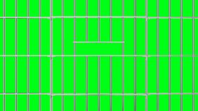 Animation of opening and closing the prison lattice.