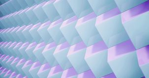 3D rendering Animation pattern geometric in Architecture Texture on Cube Box shape with light and shadow. Animation pattern geometric in Architecture Texture on vector illustration