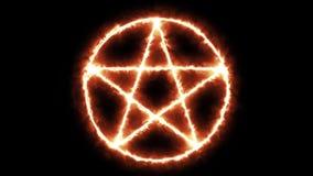 Pentacle icon burning