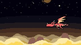 Animation pixel art dragon fly