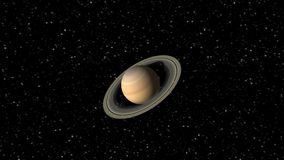 Animation of the Planet Saturn stock footage