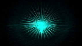 Animation of poignant and sharp abstract star stock footage