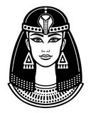 Animation portrait of the beautiful Egyptian woman. Stock Images