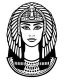 Animation portrait of the beautiful Egyptian woman. Stock Image