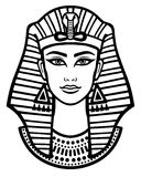 Animation portrait of the beautiful Egyptian woman. Stock Photography