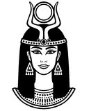 Animation portrait of the beautiful Egyptian woman. Stock Photo
