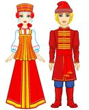 Animation Portrait Of A Family In Ancient Russian Clothes. Stock Photos