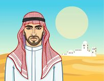 Free Animation Portrait Of The Arab Man In A Traditional Headdress. Royalty Free Stock Photography - 117460727