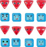 Animation red and blue buttons Royalty Free Stock Photography