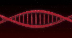 Animation of DNA structure against black background