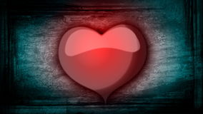 Animation of red heart for Valentine's day stock video footage