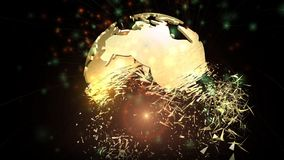 Animation of a rotating Earth Globe Royalty Free Stock Photography