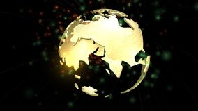 Animation of a rotating Earth Globe Royalty Free Stock Images