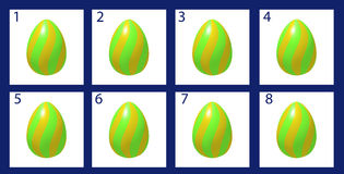 Animation rotation Easter egg Royalty Free Stock Photography