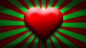 Animation rouge de coeur - amour, salutations 2 de jour de valentines illustration libre de droits