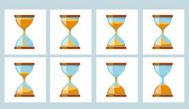 Animation Sand Glass Clock. Royalty Free Stock Images