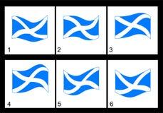 Animation Scottish flag Royalty Free Stock Images
