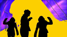 Animation showing dance performers stock footage